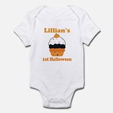 Personalized 1st Halloween Cupcake Body Suit