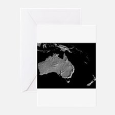 Australia Relief Map Greeting Cards (Pk of 10)