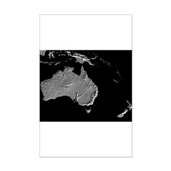 Australia Relief Map Posters