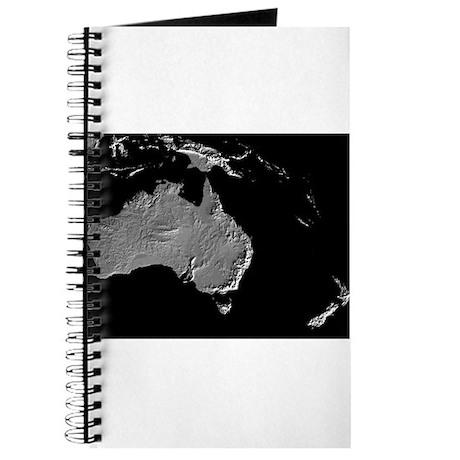 Australia Relief Map Journal