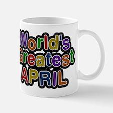 Worlds Greatest April Small Small Mug