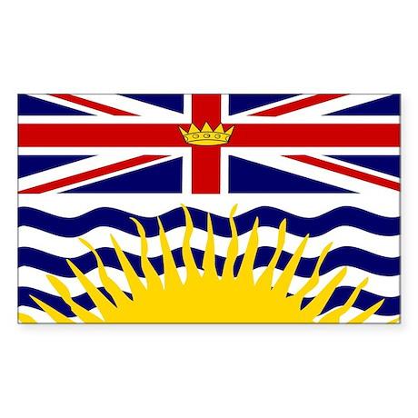 British Columbia Flag Sticker (Rectangul