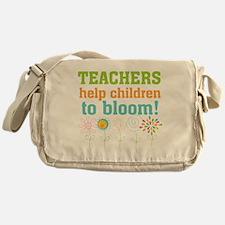 Teachers Help Children Bloom Messenger Bag