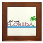 Visit Scenic Florida Framed Tile