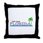 Visit Scenic Florida Throw Pillow