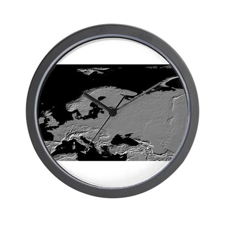 Europe Relief Map Wall Clock