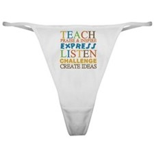 Teacher Creed Classic Thong
