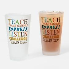 Teacher Creed Drinking Glass
