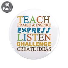 "Teacher Creed 3.5"" Button (10 pack)"