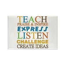 Teacher Creed Rectangle Magnet