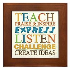 Teacher Creed Framed Tile