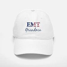 Grandma: Patriotic EMT Baseball Baseball Cap