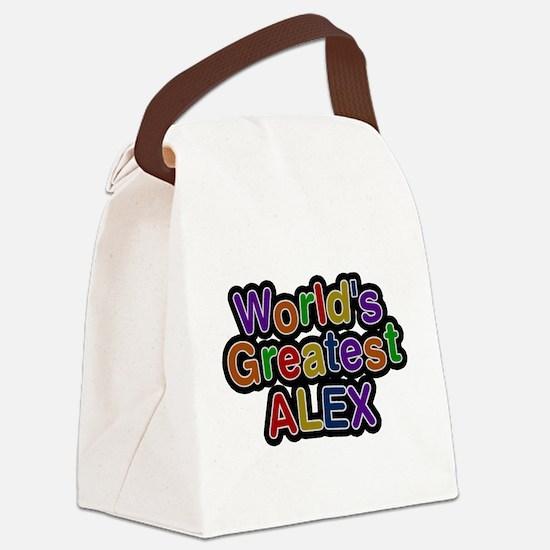 Worlds Greatest Alex Canvas Lunch Bag