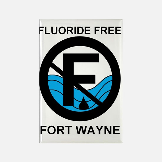 Fluoride Free Fort Wayne  Rectangle Magnet