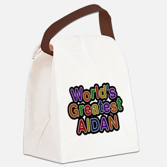 Worlds Greatest Aidan Canvas Lunch Bag
