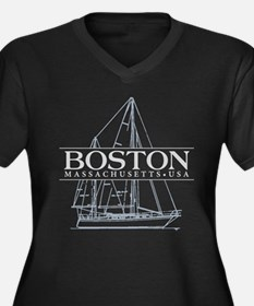 Boston - Women's Plus Size V-Neck Dark T-Shirt