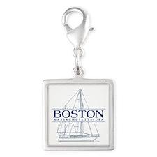 Boston - Silver Square Charm
