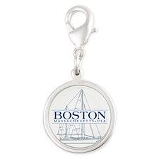 Boston - Silver Round Charm