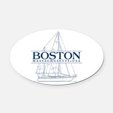 Boston - Oval Car Magnet