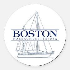 Boston - Round Car Magnet