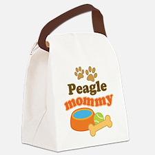 Peagle Mom Canvas Lunch Bag