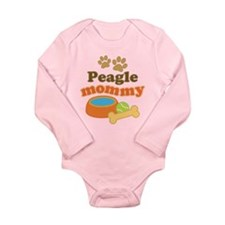 Peagle Mom Long Sleeve Infant Bodysuit