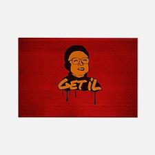 Get Il - Kim Jong Il Rectangle Magnet