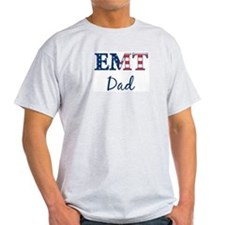 Dad: Patriotic EMT Ash Grey T-Shirt