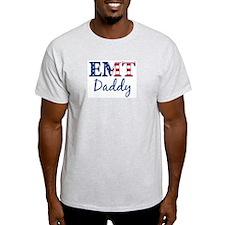 Daddy: Patriotic EMT Ash Grey T-Shirt