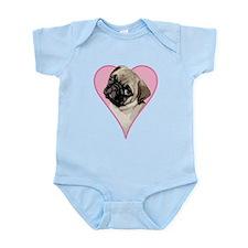 Heart Pug - Infant Bodysuit