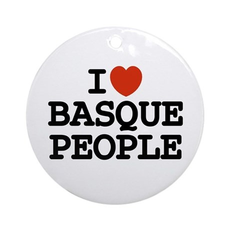 I [heart] Basque People Ornament (Round)