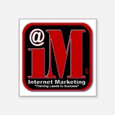 "Internet Marketing Succes Square Sticker 3"" x 3"""