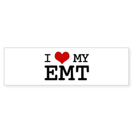 I Love My E.M.T. (basic) Bumper Sticker