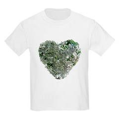 Lilac Heart Art #6 Kids T-Shirt