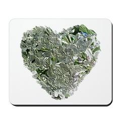 Lilac Heart Art #6 Mousepad