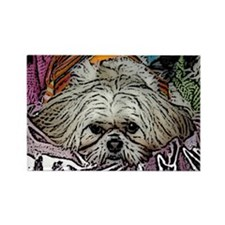 Shih Tzu Pop Art Hogan Rectangle Magnet (10 pack)