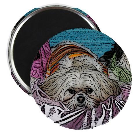 "Shih Tzu Pop Art Hogan 2.25"" Magnet (10 pack)"