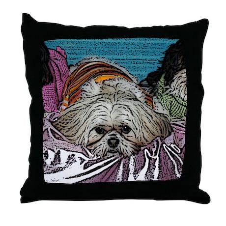 Shih Tzu Pop Art Hogan Throw Pillow