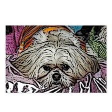Shih Tzu Pop Art Hogan Postcards (Package of 8)