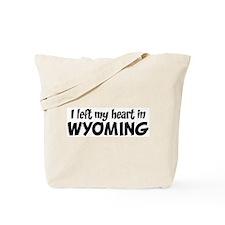 Left my Heart: WYOMING Tote Bag