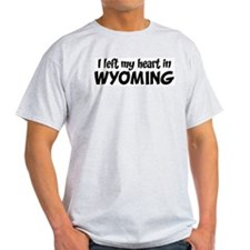Left my Heart: WYOMING Ash Grey T-Shirt