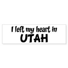 Left my Heart: UTAH Bumper Bumper Sticker