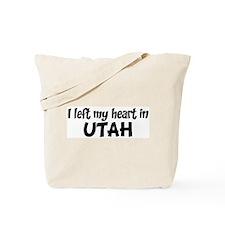 Left my Heart: UTAH Tote Bag