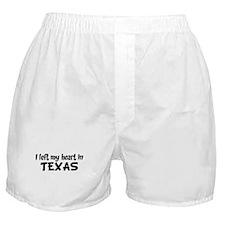 Left my Heart: TEXAS Boxer Shorts