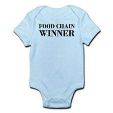 Food Chain Winner Carnivore Humor Infant Bodysuit