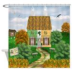 St Patricks Day Cottage Shower Curtain