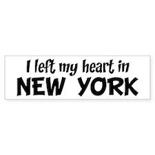 Left my Heart: NEW YORK Bumper Bumper Sticker