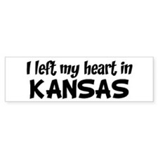 Left my Heart: KANSAS Bumper Car Sticker
