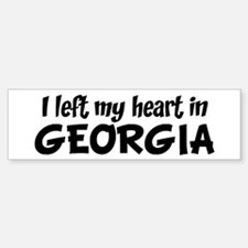 Left my Heart: GEORGIA Bumper Bumper Bumper Sticker