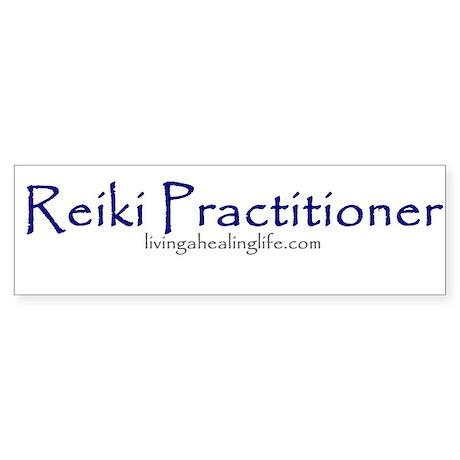 Reiki Practitioner purple Bumper Sticker